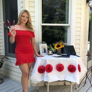 Red Superdown dress
